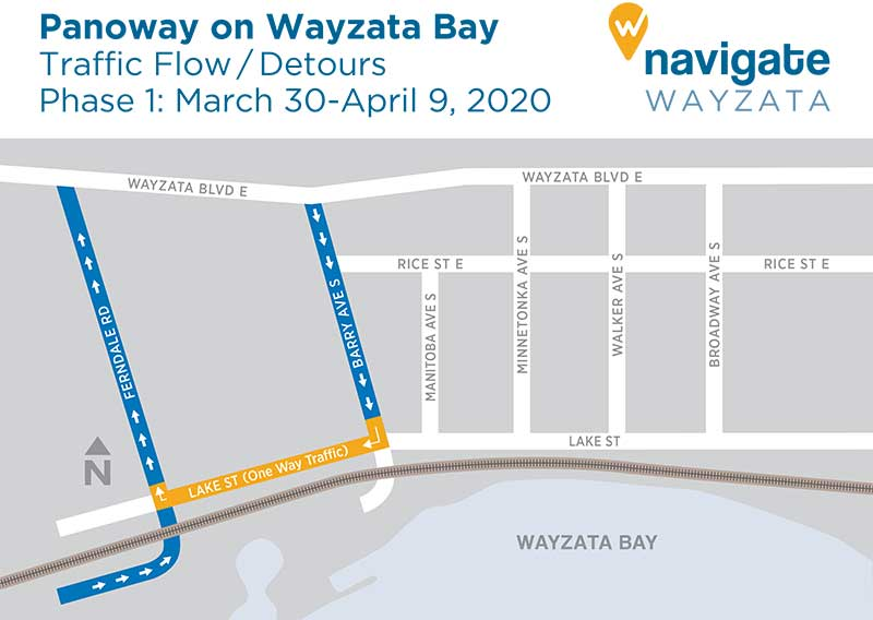 Panoway Construction Detour Map - Phase 1